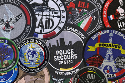 creations of embroidered patches