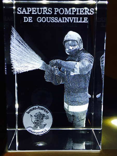 Custom 3d trophies, laser engraving for fireman and fire department