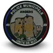 City, municipal police embroidery patche angers