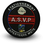 City, municipal police embroidery patche ASVP Capesterre Mgt