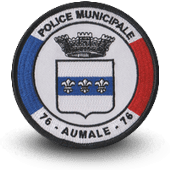 City, municipal police embroidery patche auomale