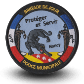 City, municipal police embroidery patche Nancy
