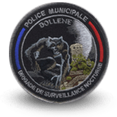 City, municipal police embroidery patche bollene