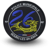 City, municipal police embroidery patche bourg-les-valence