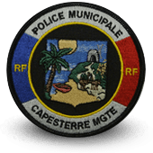 City, municipal police embroidery patche Capesterre Mgte