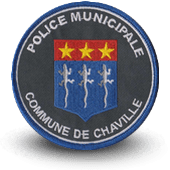 City, municipal police embroidery patche chaville