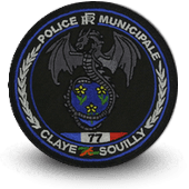 City, municipal police embroidery patche Claye-Souilly