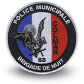 City, municipal police embroidery patche colmar