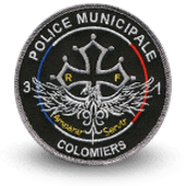City, municipal police embroidery patche coulomiers