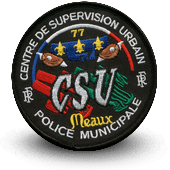 City, municipal police embroidery patche CSU MEAUX