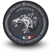 City, municipal police embroidery patche cynophile dunkerque