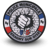 City, municipal police embroidery patche Eragny-sur-Oise