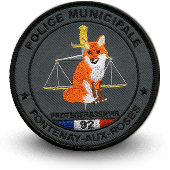 City, municipal police embroidery patche fontenay-aux-roses