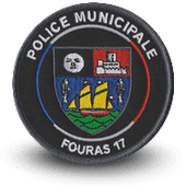 City, municipal police embroidery patche fouras