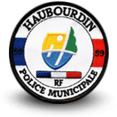 City, municipal police embroidery patche haubourdin