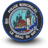 City, municipal police embroidery patche Le Grau Du Roi