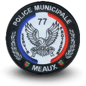 City, municipal police embroidery patche MEAUX