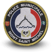 City, municipal police embroidery patche MONT SAINT MICHEL