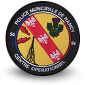 City, municipal police embroidery patche Centre opérationnel de Nancy
