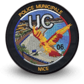 City, municipal police embroidery patche Nice