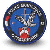 City, municipal police embroidery patche ottmarsheim