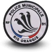 City, municipal police embroidery patche RIS ORANGIS