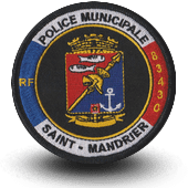 City, municipal police embroidery patche saint-mandrier