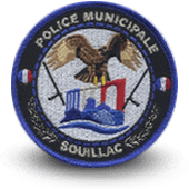 City, municipal police embroidery patche souillac