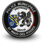 City, municipal police embroidery patche ST MAUR DES FOSSES