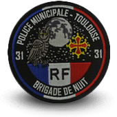 City, municipal police embroidery patche toulouse