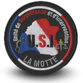 City, municipal police embroidery patche LA MOTTE