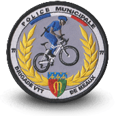 City, municipal police embroidery patche VTT MEAUX