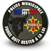 City, municipal police embroidery patche perols