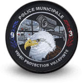 City, municipal police embroidery patche villepinte