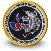 Embroidery patche Agents de constatation Ecole Customs la Rochelle