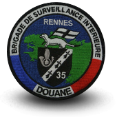 Embroidery patche Brigade de survillance Customs Rennes