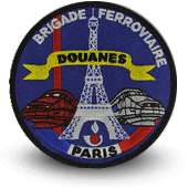 Embroidery patche Brigade Ferroviaire Customs de Paris