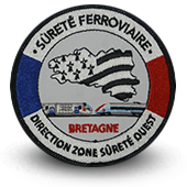 Embroidery patche railway safety Bretagne