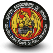 Embroidery patche railway safety - Rouen