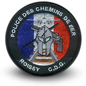 Embroidery patche Police des chemins de fer Roissy CDG